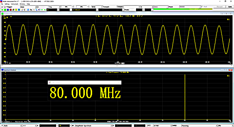 Oscilloscope SINC interpolation